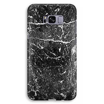 Samsung Galaxy S8 Plus Full Print Case (Glossy) - Black marble
