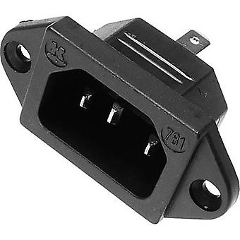IEC connector C14 Plug, vertical mount Total number of pins: 2