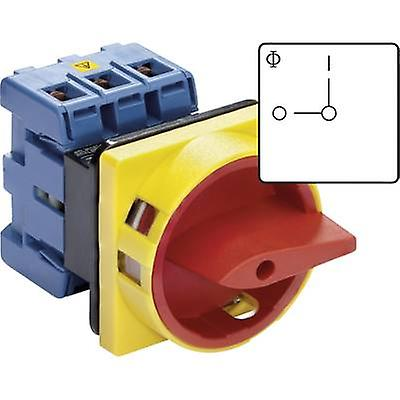 Isolator switch lockable 32 A 1 x 90 ° Red, Yello