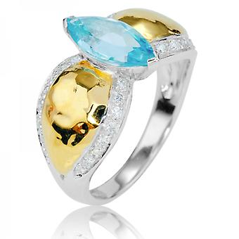 Ladies Shipton And Co Exclusive 9ct White Gold And Aquamarine Ring RWD156AQD