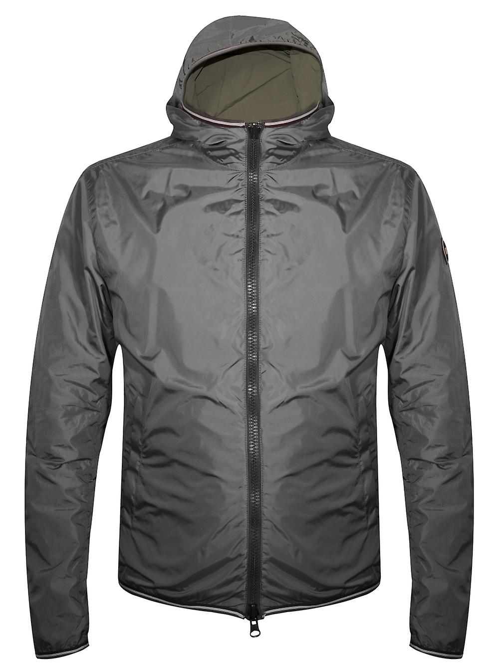 Colmar Colmar Khaki & Grey Reversible Hooded Jacket