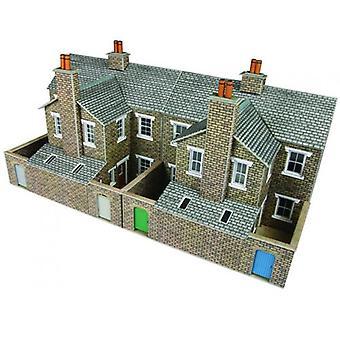Metcalfe Po277 00/H0 Flachrelief Stein Terraced House Rücken
