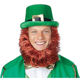 Leprechaun Getup St Patricks Day Irish Men Costume Hat Beard Kit