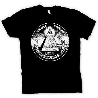 Kinderen T-shirt - Illuminati - Conspiracy Dollar