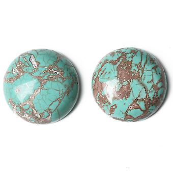 Packet 3 x Turquoise Magnesite Flat Back 12mm Coin 5mm Thick Cabochon CA16679-3