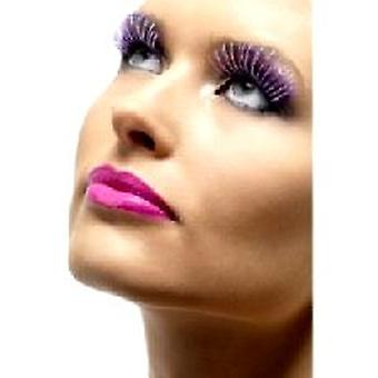 Metallic Eyelashes - Purple and Silver - Contains