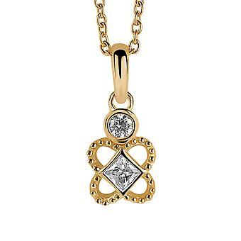 Orphelia sølv 925 kæde med vedhæng blomst forgyldte Zirconium ZH-6032/2
