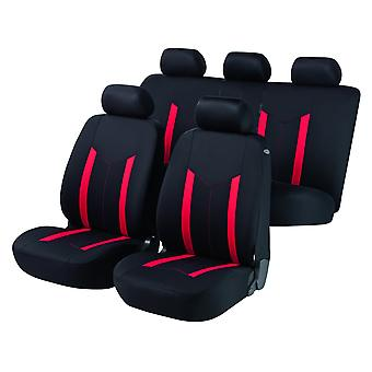 Hastings Car Seat Cover zwart & rood voor Skoda Fabia Estate 2000-2007