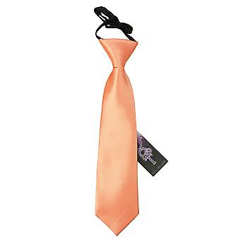 Coral Plain Satin Elasticated Tie for Boys