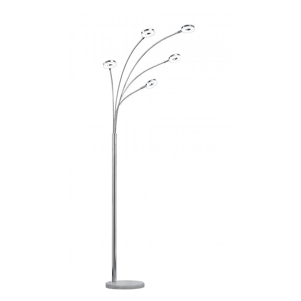 Trio de Rennes moderne Chrome métal lampadaire d'éclairage