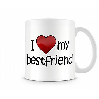 Me encanta mi taza impresa Bestfriend
