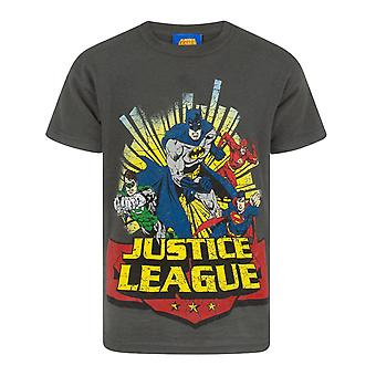 Justice League Childrens Boys Comic T-Shirt