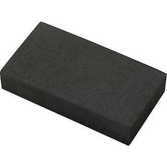Basetech EVA9550H20 Foam rubber block self-adhesive EVA Black (L x W x H) 95 x 49 x 19 mm 1 pc(s)