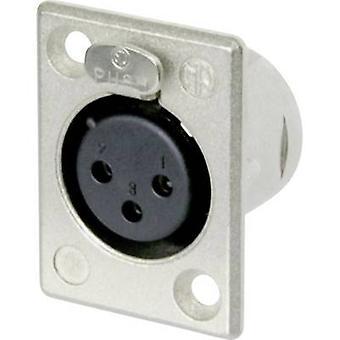 XLR connector Sleeve socket, straight pins Number of pins: 3 Silver Neutrik NC3FP-1 1 pc(s)