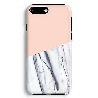 桃の iPhone 8 に加えて、フル印刷ケース (光沢のある) - A タッチします。