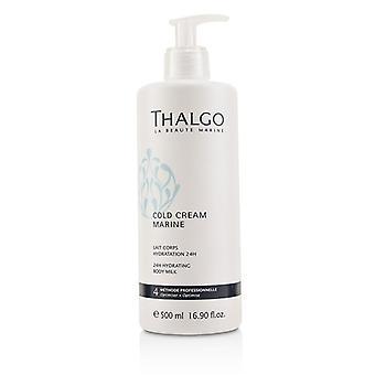 Frío de Thalgo crema Marina 24H hidratante Body Milk - para la piel sensible seca (tamaño salón) - de 500 ml/16.90 oz