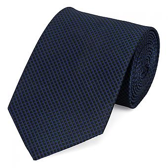 Tie tie tie tie 8cm black blue checkered Fabio Farini