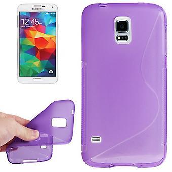 Protective case TPU case cover for mobile Samsung Galaxy S5 mini purple / violet