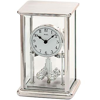 Year clock silver year clock quartz mineral glass with metal housing