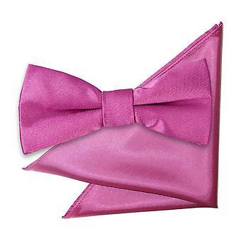 Mulberry almindelig Satin Bow Tie & lomme firkantet sat til drenge