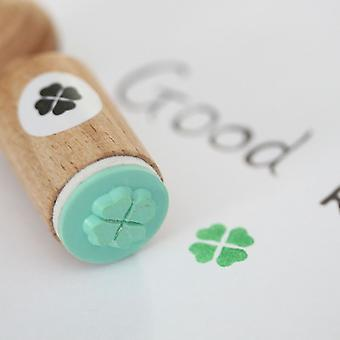 Four Leaf Clover Very Mini Rubber Stamp - Craft / Scrapbooking / Wedding
