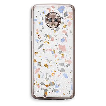 Motorola Moto G6 Transparent Case (Soft) - Terrazzo N°8