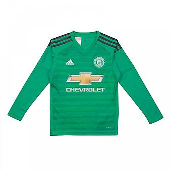 Adidas Juniors Manchester United 2018/2019 Goalie Long Sleeve Shirt (Green)