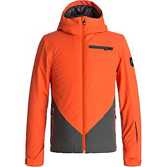 Quiksilver Mandarin Red Suit Up Kids Snowboarding Jacket