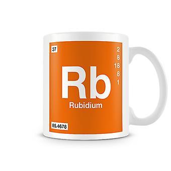 Wetenschappelijke bedrukte Mok met Element symbool 037 Rb - Rubidium