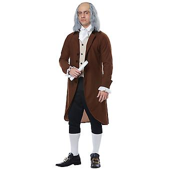 Benjamin Franklin Colonial Man Founding Father Scientist Historical Mens Costume