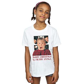 Home Alone Girls Merry Christmas Ya Filthy Animal T-Shirt