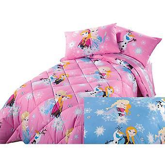 羽毛布団のエルザとアン ディズニー冷凍で Caleffi 半分青