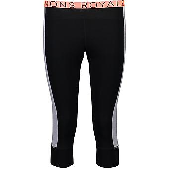 Mons Royale Women's Alagna 3/4 Leggings - Black/Grey Marl