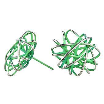 TI2 Titanium runden Käfig Chaos Ohrstecker - frisches Grün
