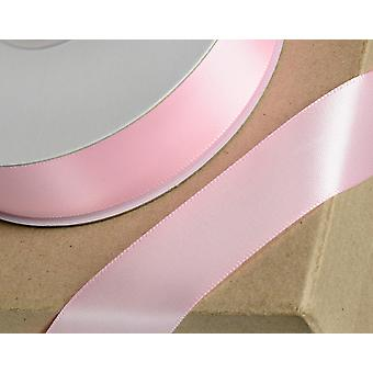 23mm Baby Pink Satin Ribbon for Craft - 25m | Ribbons & Bows for Crafts