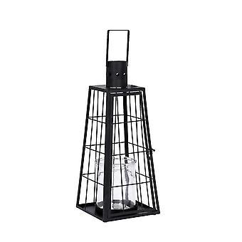 Lampe Höhe 42 cm Schmiedeeisen schwarz
