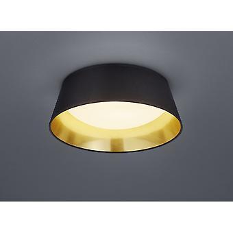Trio Beleuchtung Ponts moderne Stoff schwarz Deckenleuchte