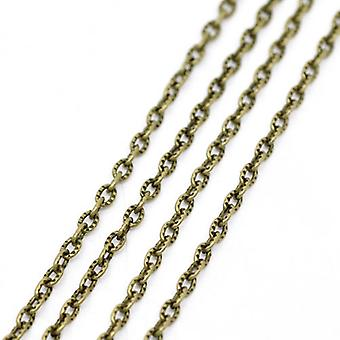 10m x Antique Bronze Anti Tarnish Iron Alloy 2.5 x 4mm Open Cable Chain CH1730