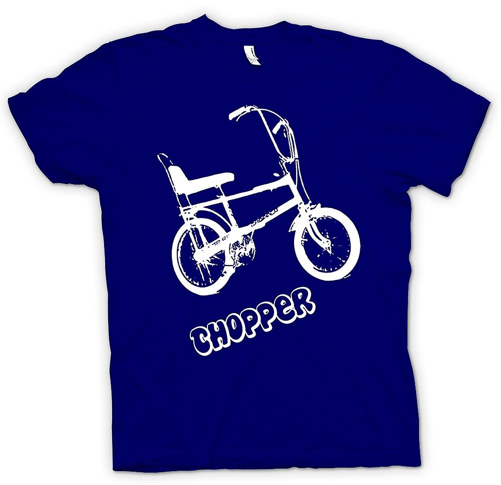 Mens T-shirt - Chopper - Old Skool - Retro Bike