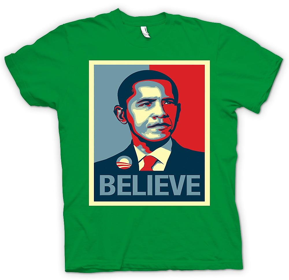 Mens T-shirt - Obama Believe Change