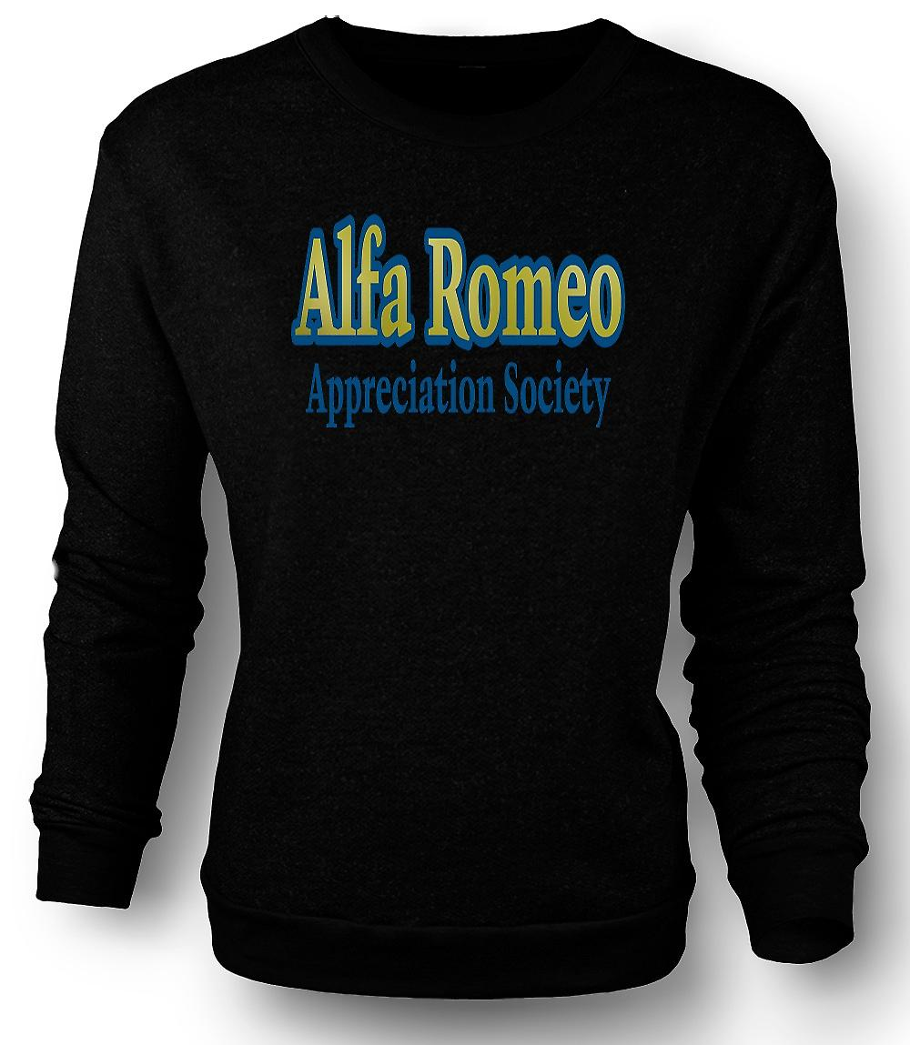 Mens Sweatshirt Alfa Romeo Appreciation Society