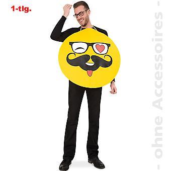 Emoji hipster Smileykostüm uttryckssymbol Nerd Smiley kostym unisex