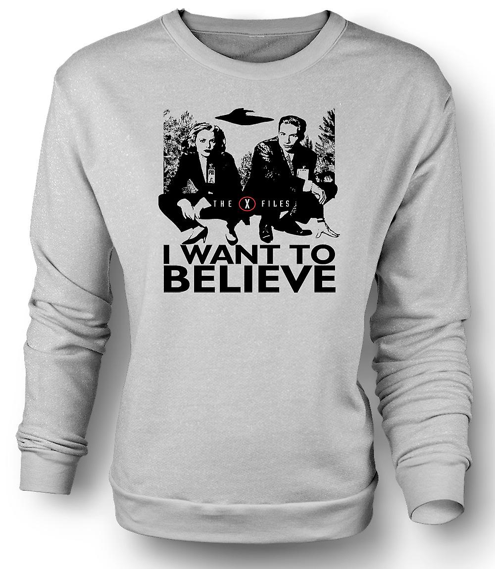 Mens felpa X Files I Want To believe - UFO