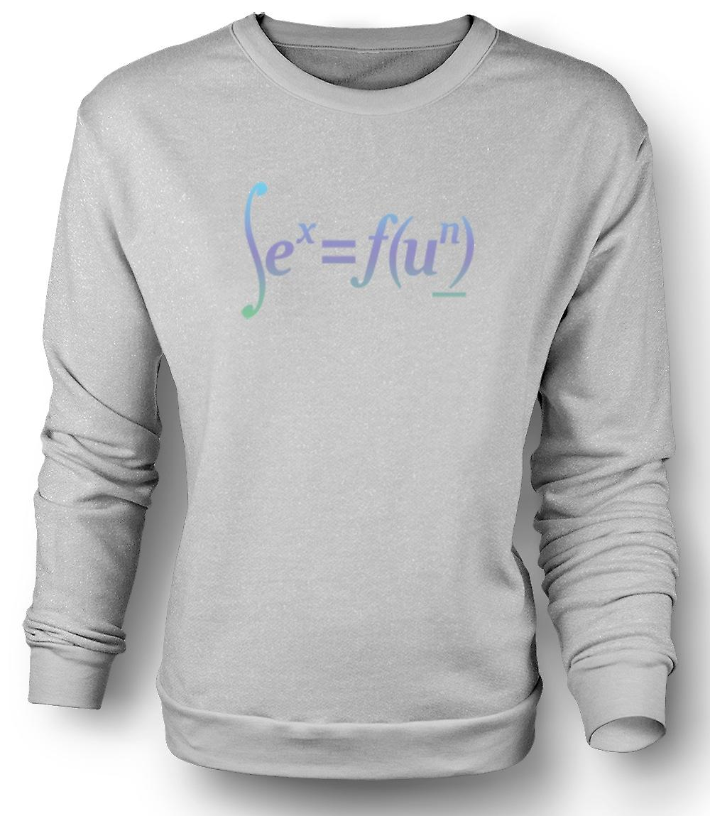 Mens Sweatshirt seks = Fun - Math formule Design