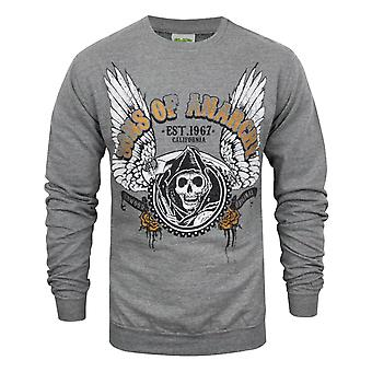 Sons Of Anarchy Winged Reaper Men's Sweater Grey