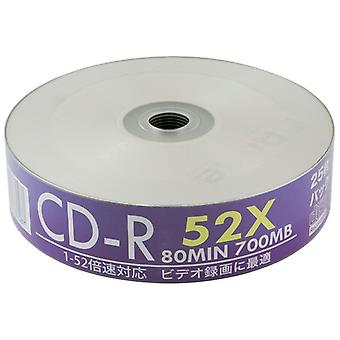 Twin Pack Aone 25pcs/Tub White Full Face Inkjet Printable 52x CDR CD-R Blank Discs Music/Data x50 Recordable CDs