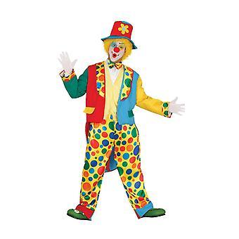 Mens bunten Clownskostüm