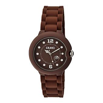 Crayo Muse Unisex Watch w/ Magnified Date - Brown