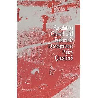 Befolkningsveksten og økonomisk utvikling: politiske spørsmål