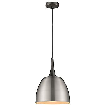 Spring Lighting - Frinton Satin Nickel Finish Pendant  BDUP032TO1QFOE